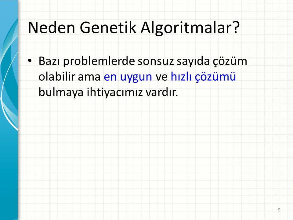 Neden Genetik Algoritmalar
