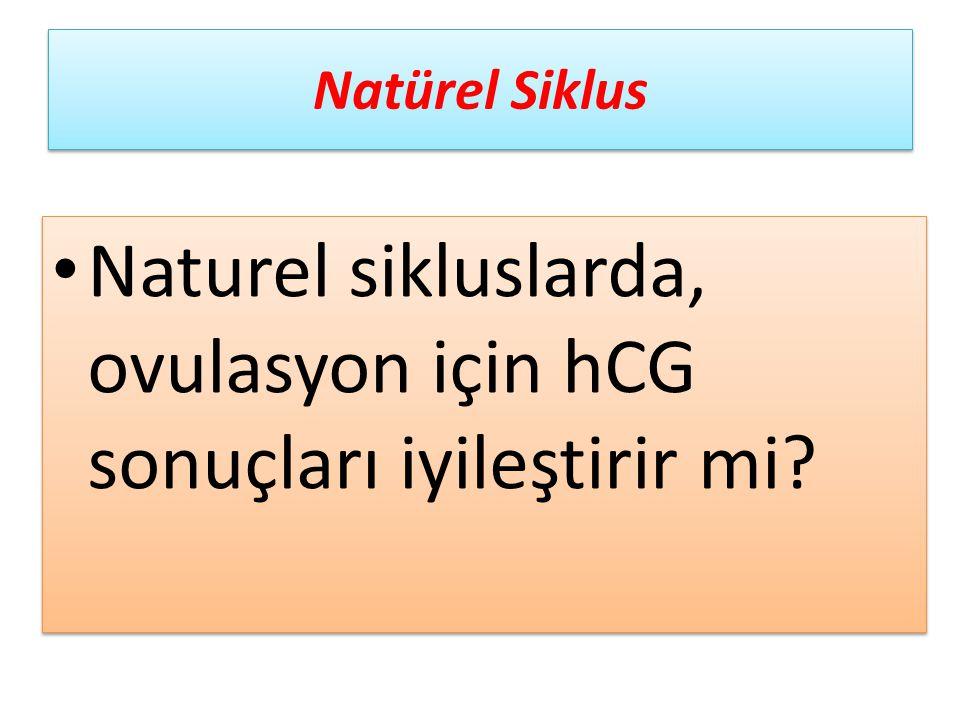 Naturel sikluslarda, ovulasyon için hCG sonuçları iyileştirir mi