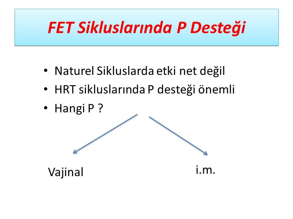 FET Sikluslarında P Desteği
