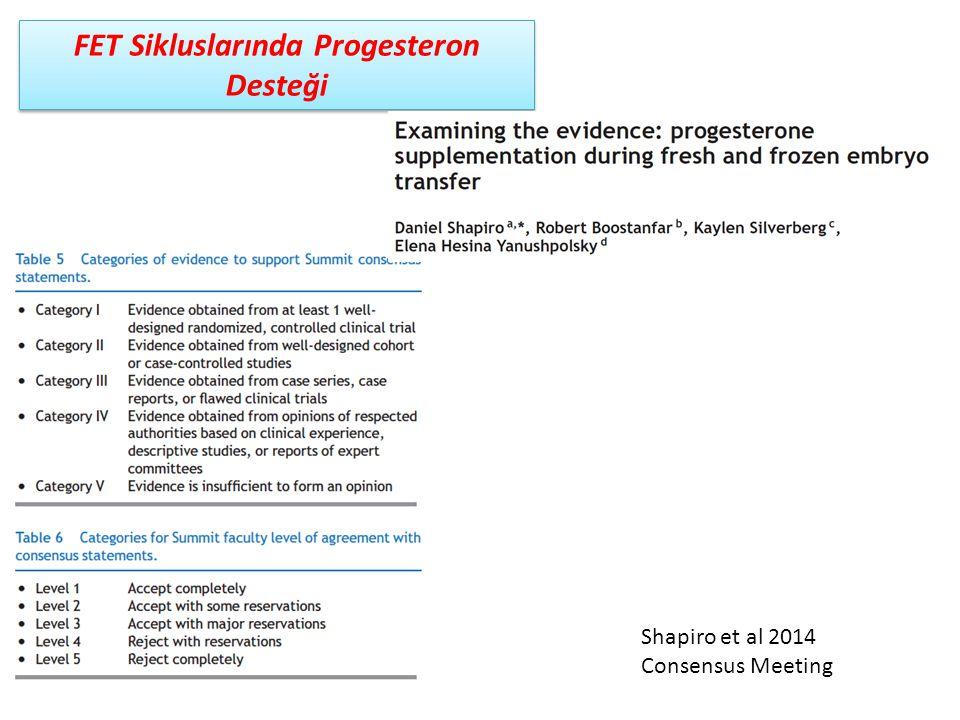 FET Sikluslarında Progesteron Desteği