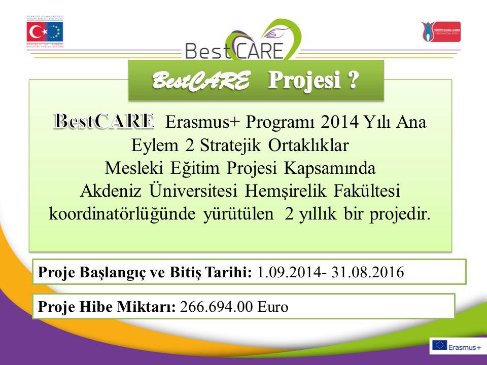 BestCARE Projesi BestCARE Erasmus+ Programı 2014 Yılı Ana Eylem 2 Stratejik Ortaklıklar. Mesleki Eğitim Projesi Kapsamında.