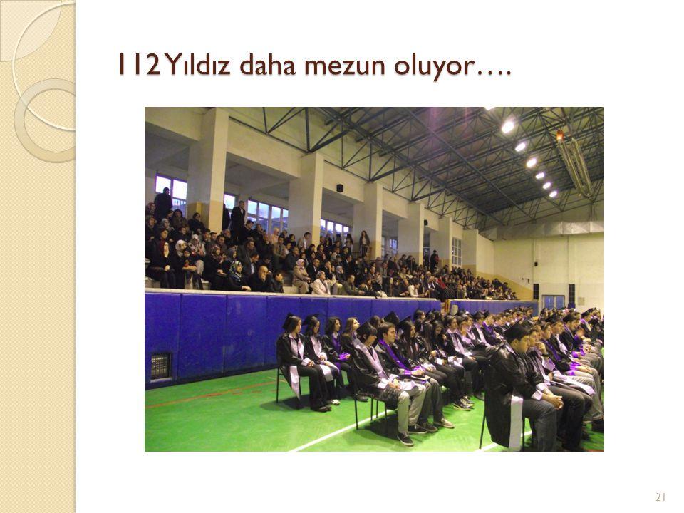 112 Yıldız daha mezun oluyor….