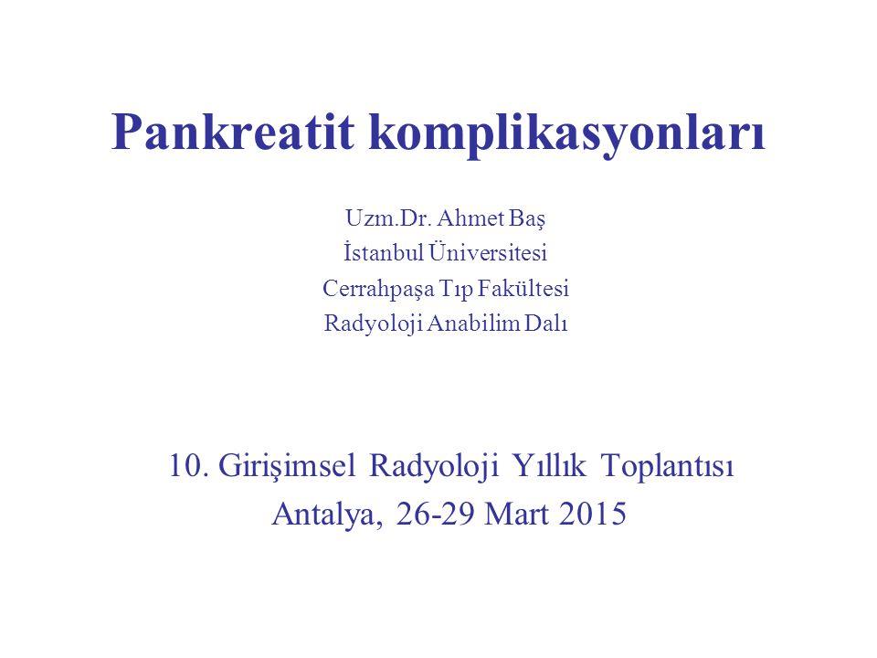 Pankreatit komplikasyonları