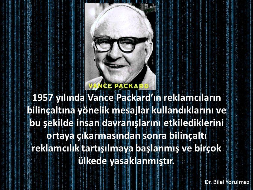 1957 yılında Vance Packard'ın reklamcıların bilinçaltına yönelik mesajlar kullandıklarını ve bu şekilde insan davranışlarını etkilediklerini ortaya çıkarmasından sonra bilinçaltı reklamcılık tartışılmaya başlanmış ve birçok ülkede yasaklanmıştır.