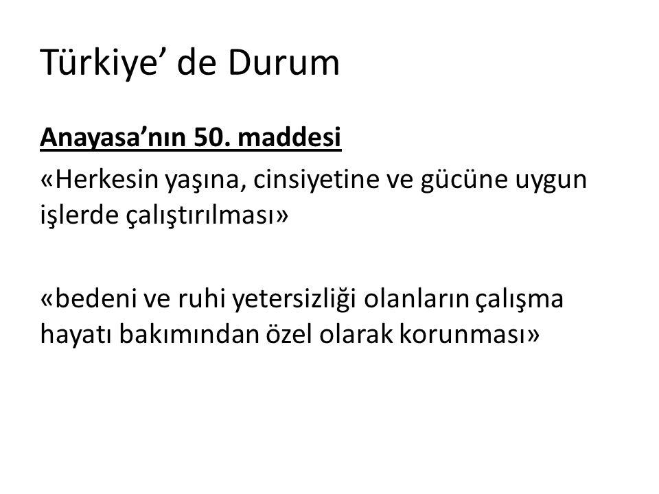 Türkiye' de Durum