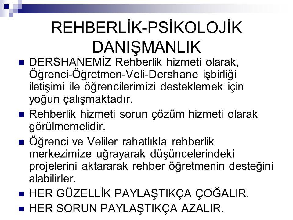 REHBERLİK-PSİKOLOJİK DANIŞMANLIK
