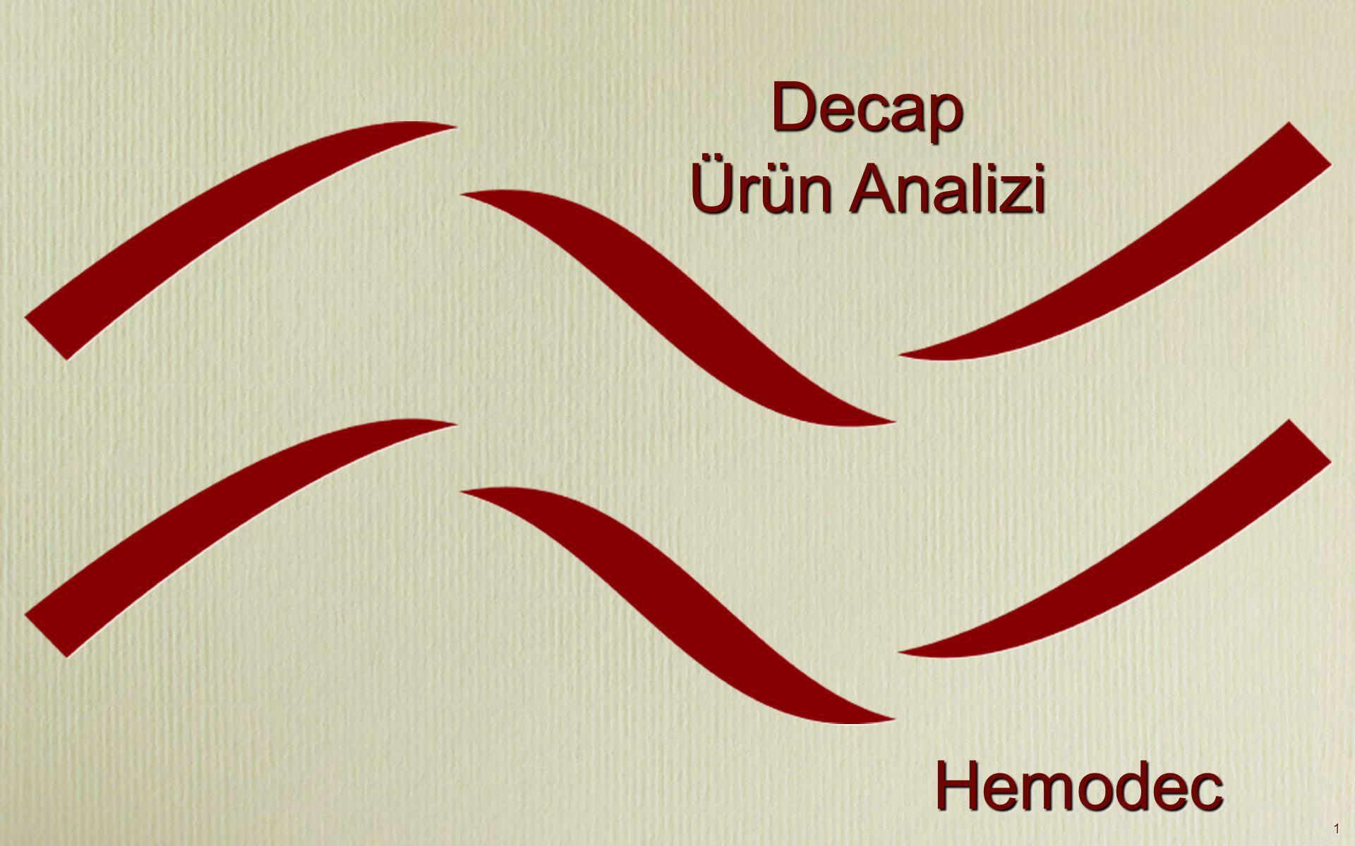 Decap Ürün Analizi Hemodec