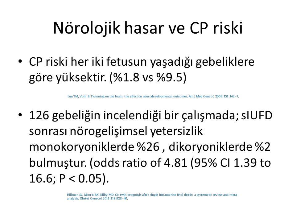 Nörolojik hasar ve CP riski