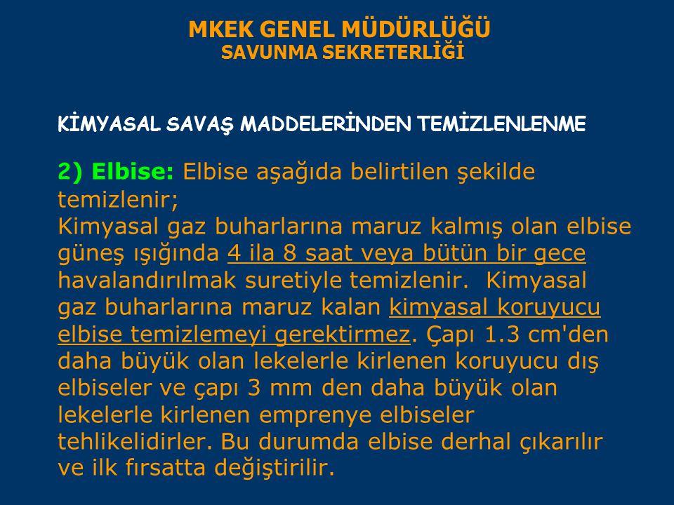 MKEK GENEL MÜDÜRLÜĞÜ SAVUNMA SEKRETERLİĞİ.