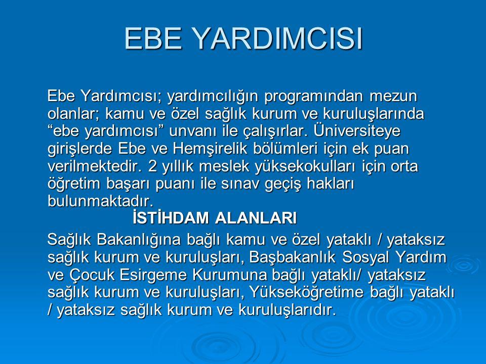 EBE YARDIMCISI