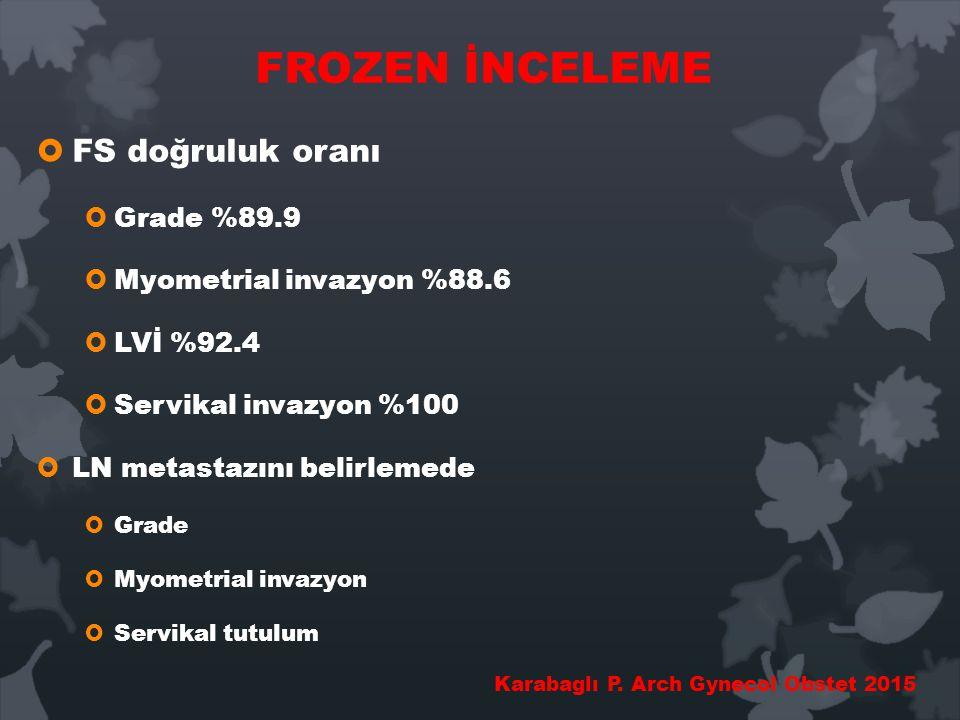 FROZEN İNCELEME FS doğruluk oranı Grade %89.9