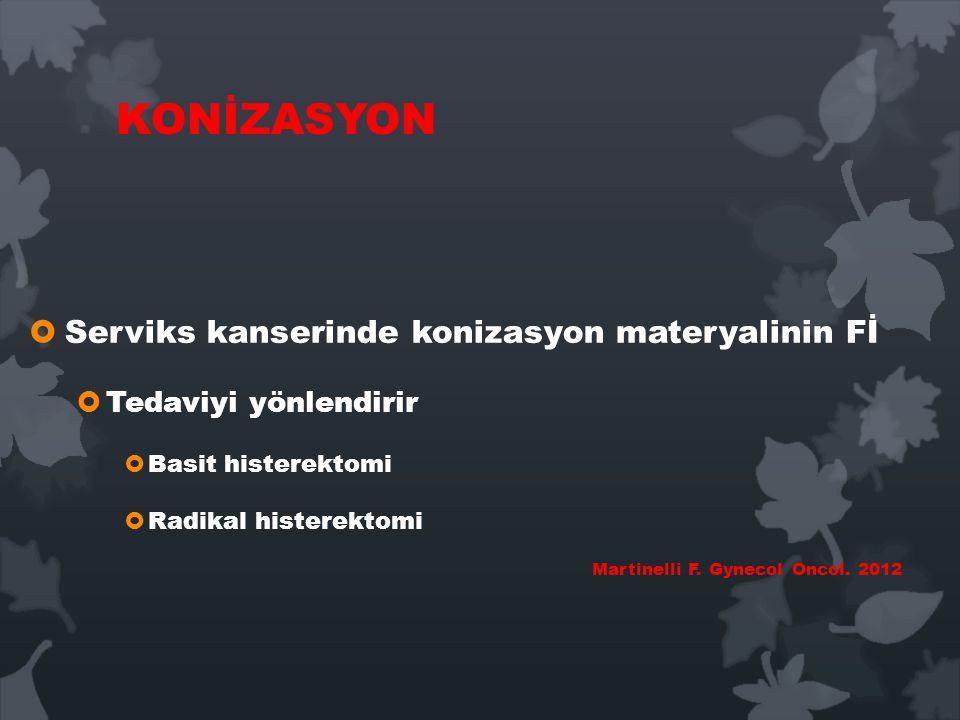 KONİZASYON Serviks kanserinde konizasyon materyalinin Fİ