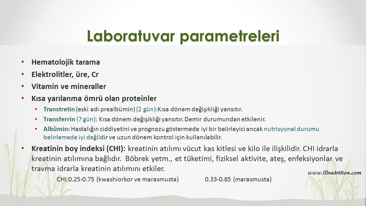Laboratuvar parametreleri