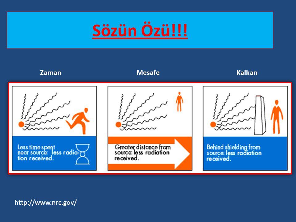 Sözün Özü!!! Zaman Mesafe Kalkan http://www.nrc.gov/