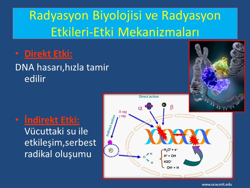 Radyasyon Biyolojisi ve Radyasyon Etkileri-Etki Mekanizmaları