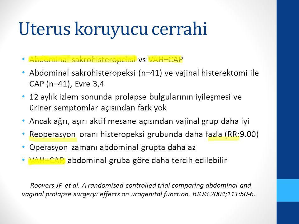 Uterus koruyucu cerrahi