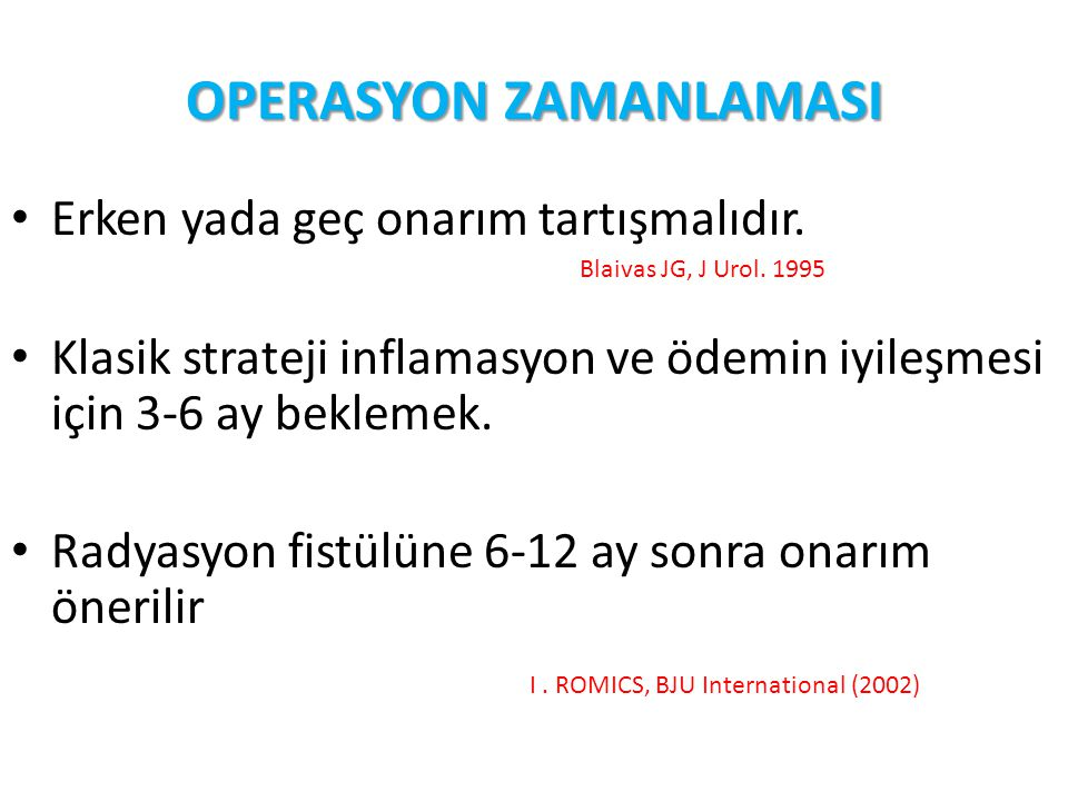 OPERASYON ZAMANLAMASI