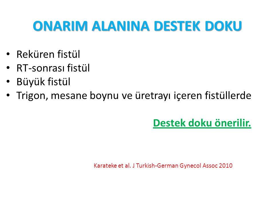 ONARIM ALANINA DESTEK DOKU