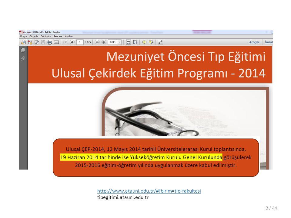 http://www.atauni.edu.tr/#!birim=tip-fakultesi tipegitimi.atauni.edu.tr / 44