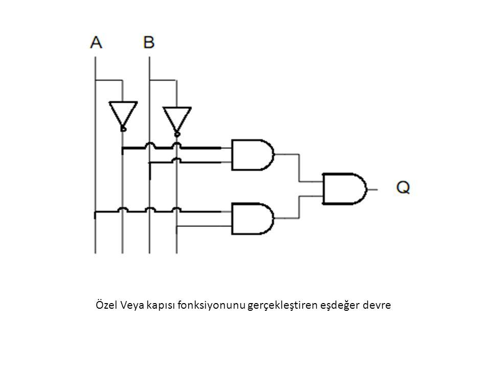 Özel Veya kapısı fonksiyonunu gerçekleştiren eşdeğer devre