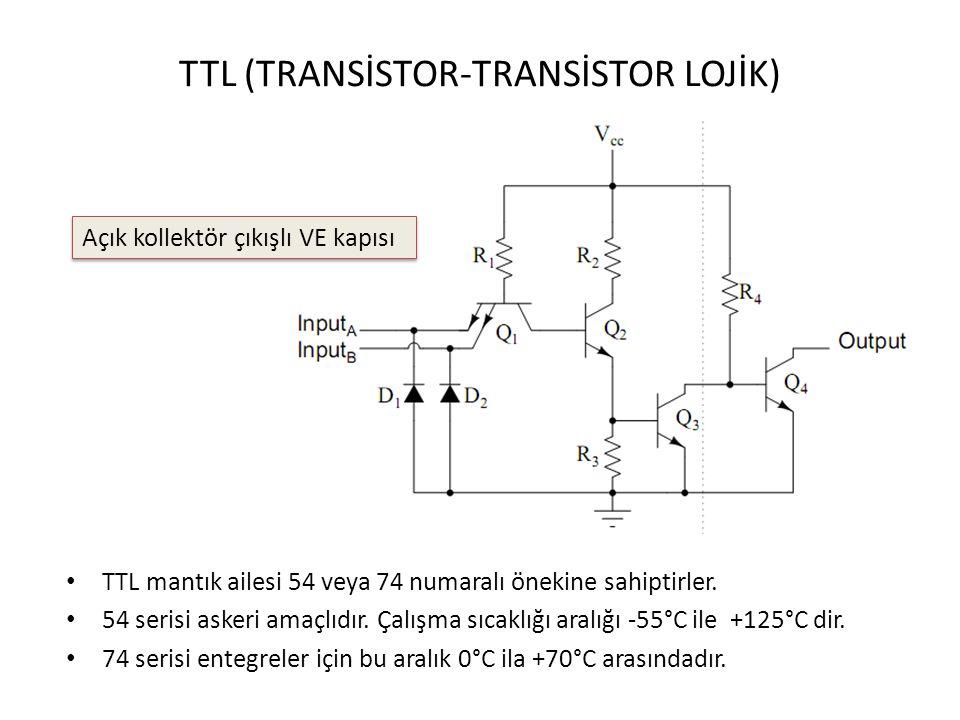 TTL (TRANSİSTOR-TRANSİSTOR LOJİK)