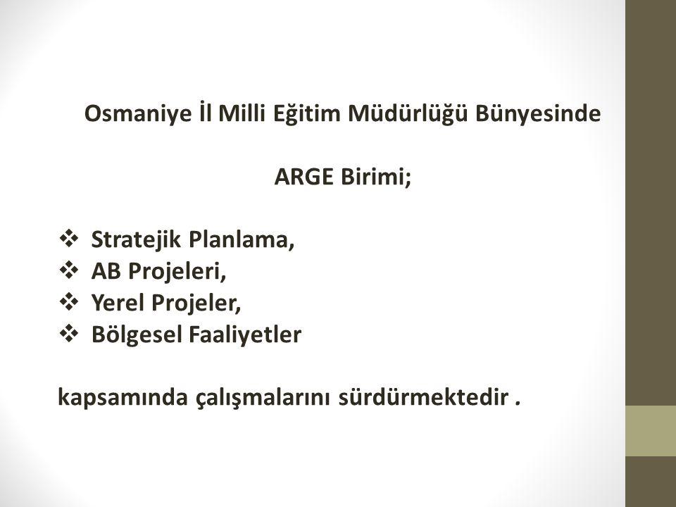 Osmaniye İl Milli Eğitim Müdürlüğü Bünyesinde