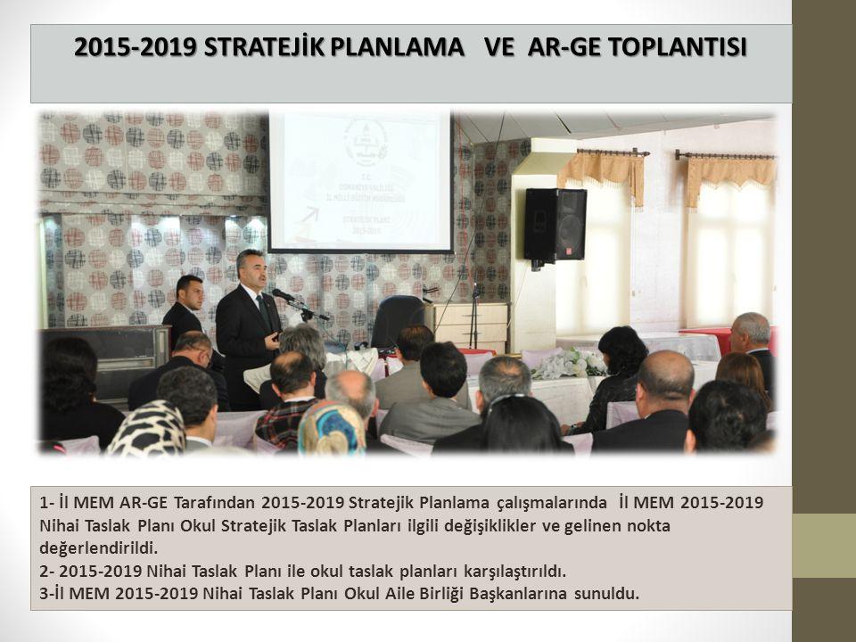 2015-2019 STRATEJİK PLANLAMA VE AR-GE TOPLANTISI