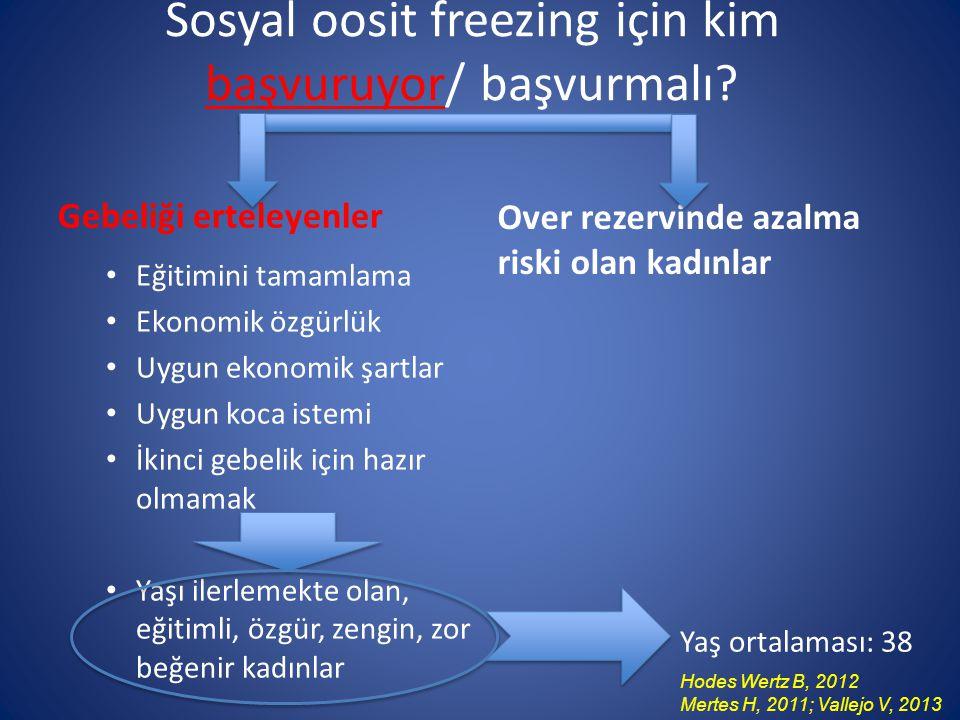 Sosyal oosit freezing için kim başvuruyor/ başvurmalı