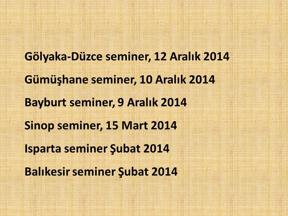 Gölyaka-Düzce seminer, 12 Aralık 2014