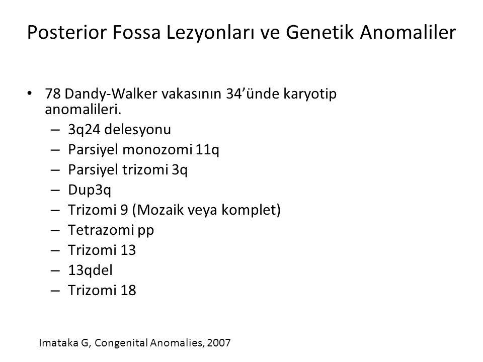 Posterior Fossa Lezyonları ve Genetik Anomaliler