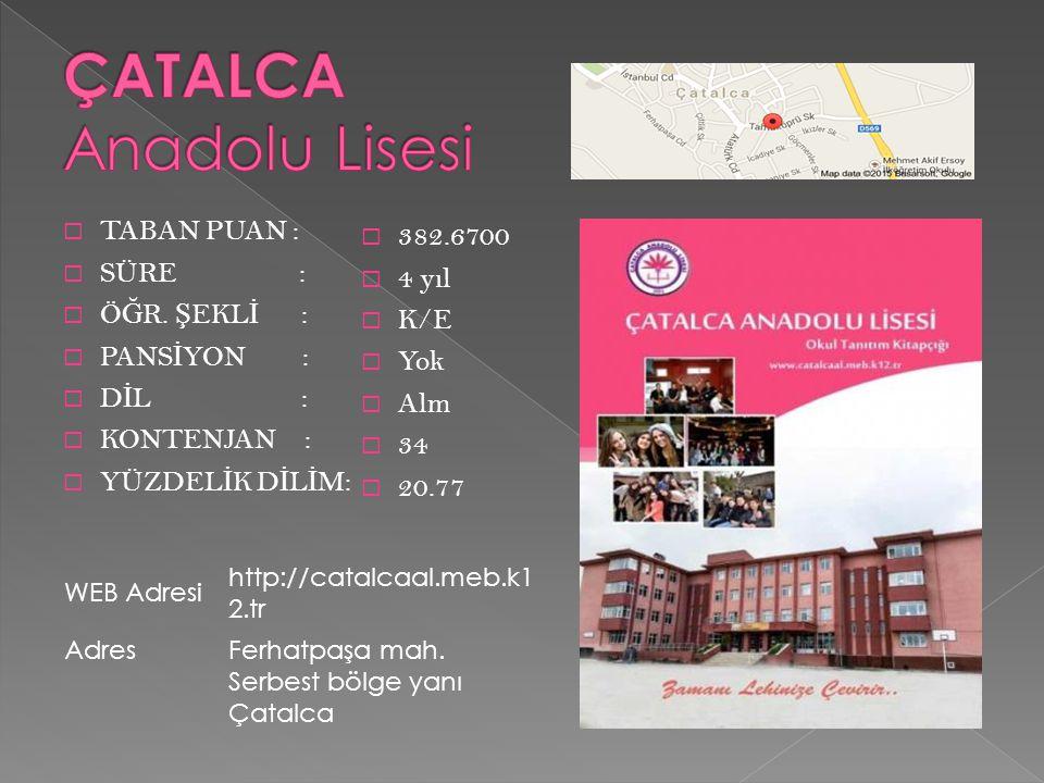 ÇATALCA Anadolu Lisesi