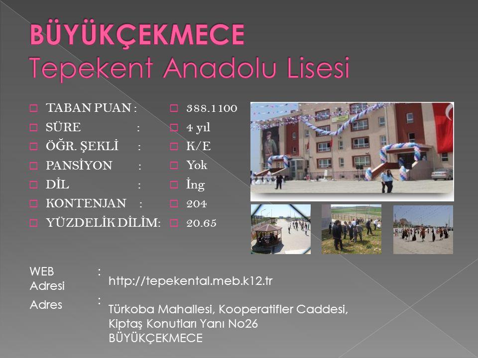 BÜYÜKÇEKMECE Tepekent Anadolu Lisesi