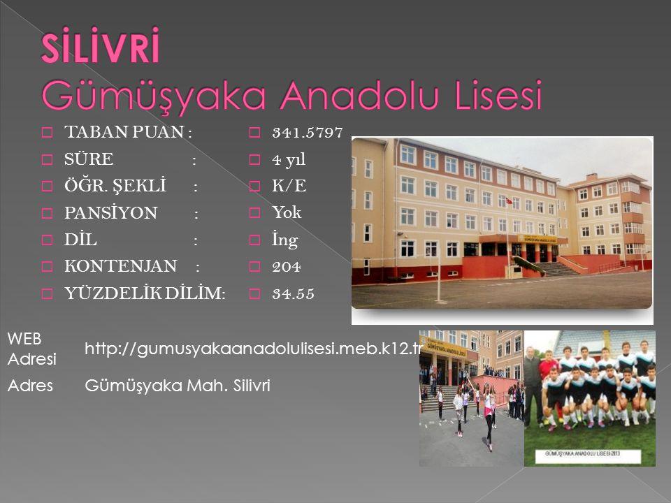 SİLİVRİ Gümüşyaka Anadolu Lisesi