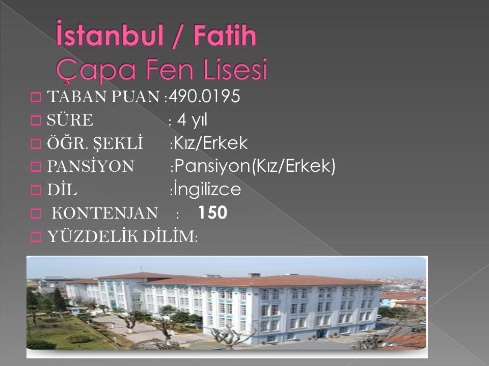 İstanbul / Fatih Çapa Fen Lisesi