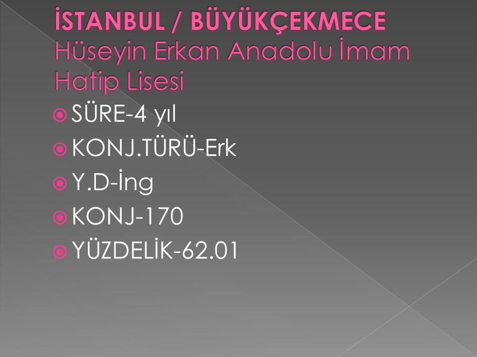 İSTANBUL / BÜYÜKÇEKMECE Hüseyin Erkan Anadolu İmam Hatip Lisesi