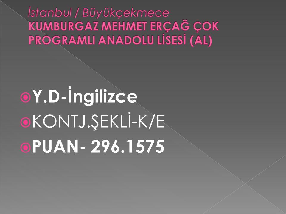 Y.D-İngilizce KONTJ.ŞEKLİ-K/E PUAN- 296.1575