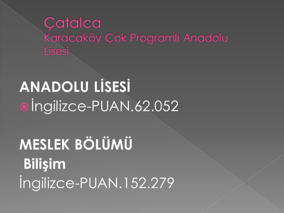 Çatalca Karacaköy Çok Programlı Anadolu Lisesi
