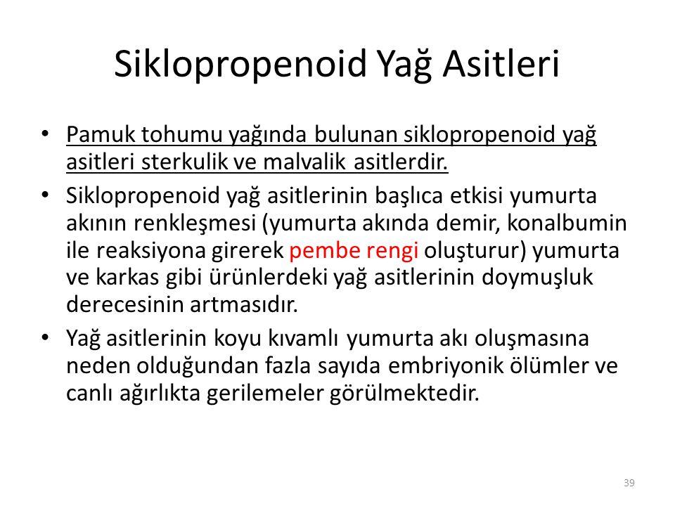 Siklopropenoid Yağ Asitleri