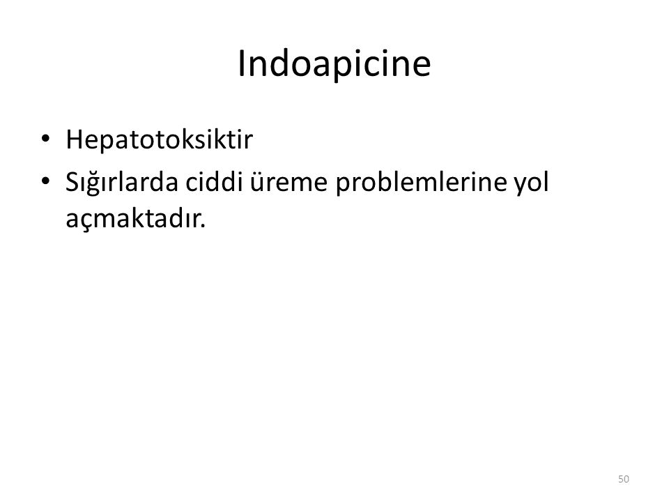Indoapicine Hepatotoksiktir
