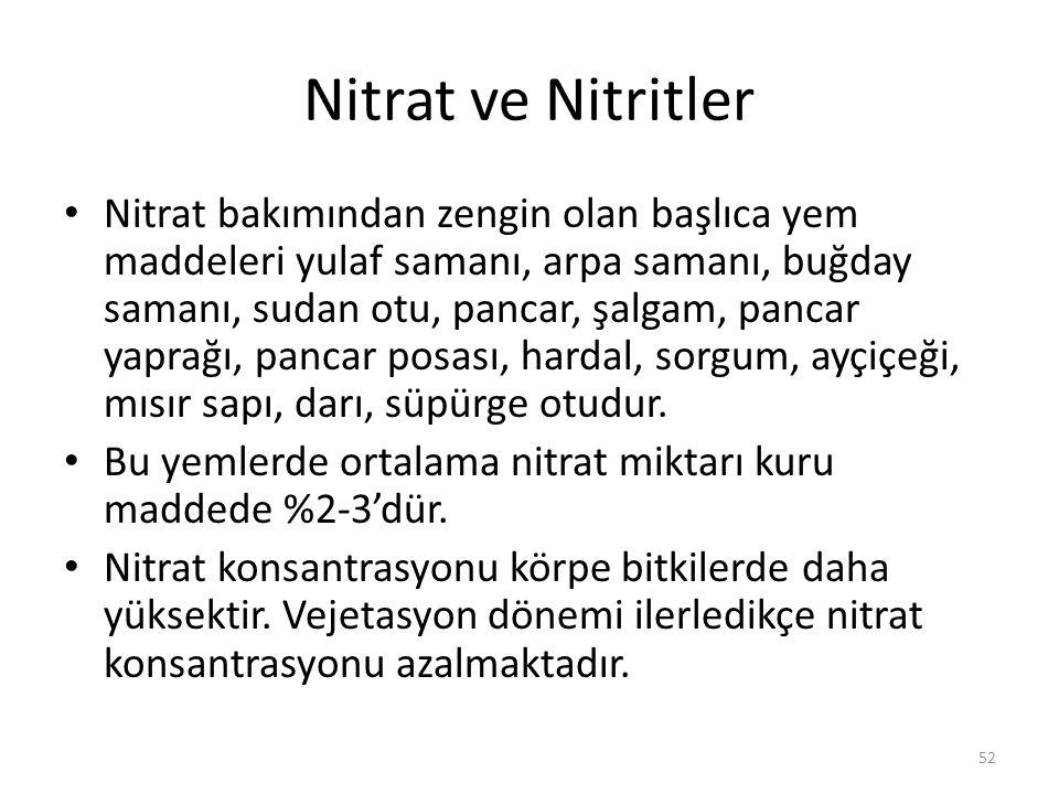 Nitrat ve Nitritler