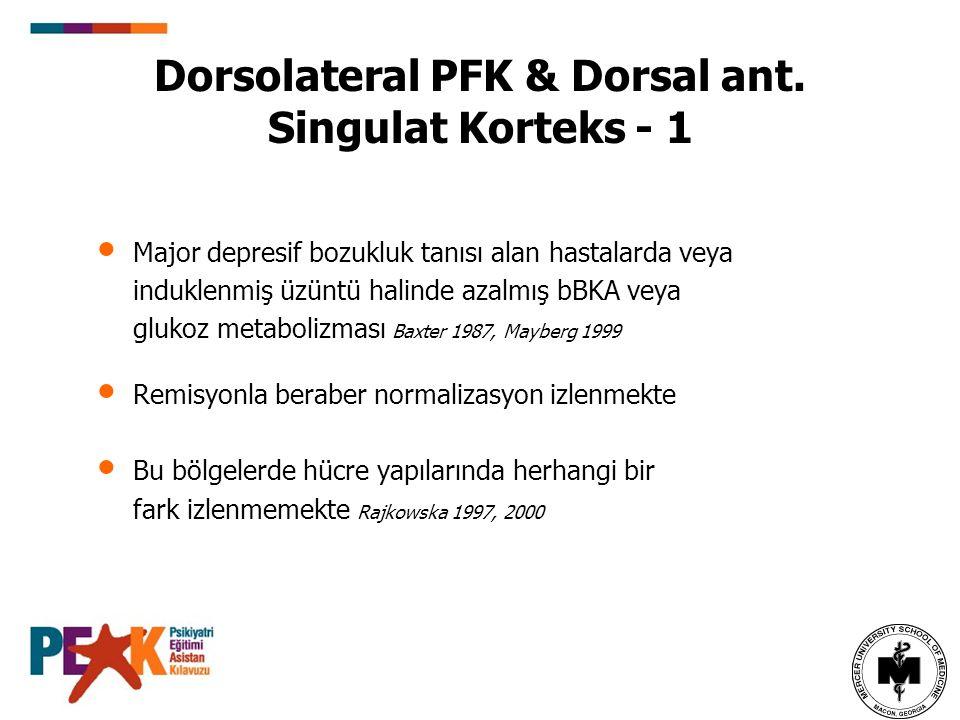 Dorsolateral PFK & Dorsal ant. Singulat Korteks - 1