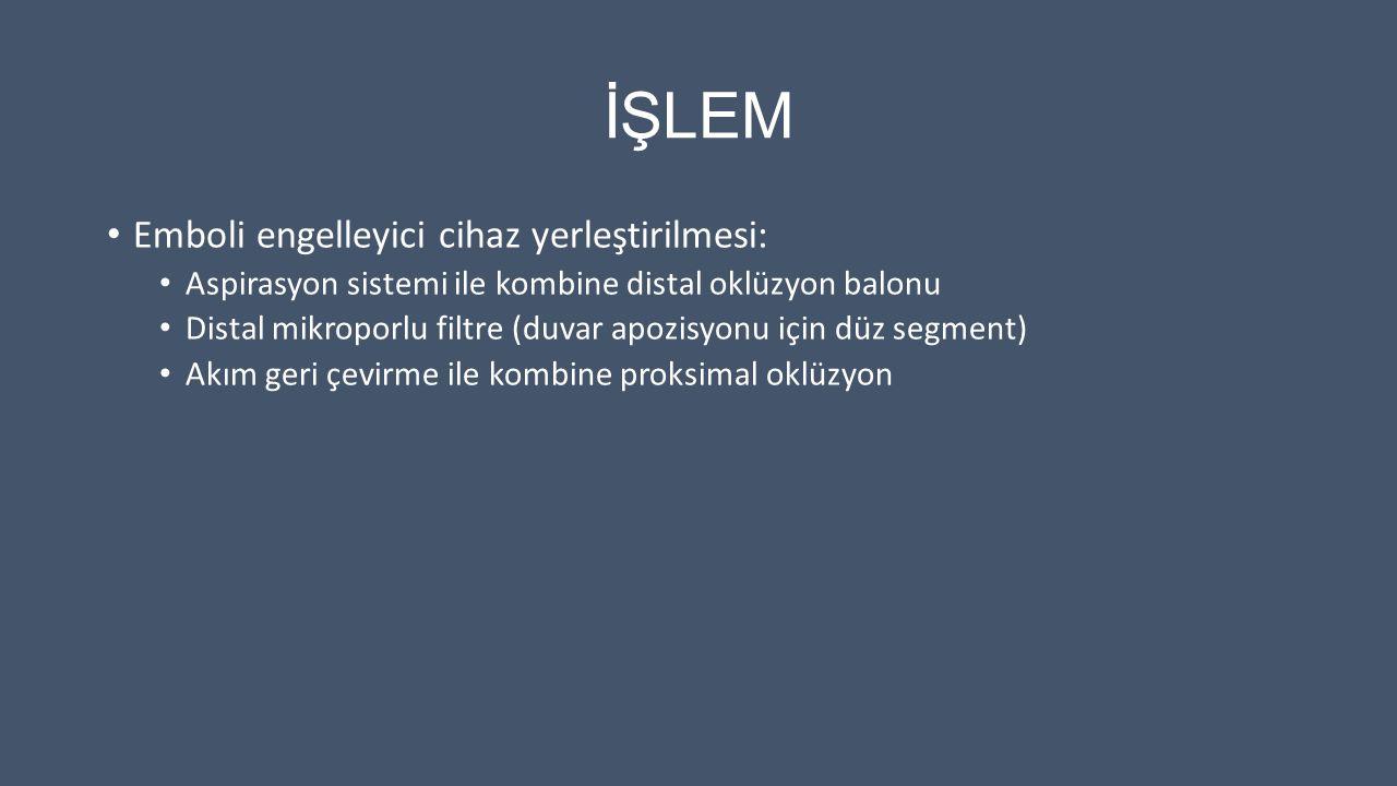 İŞLEM Emboli engelleyici cihaz yerleştirilmesi: