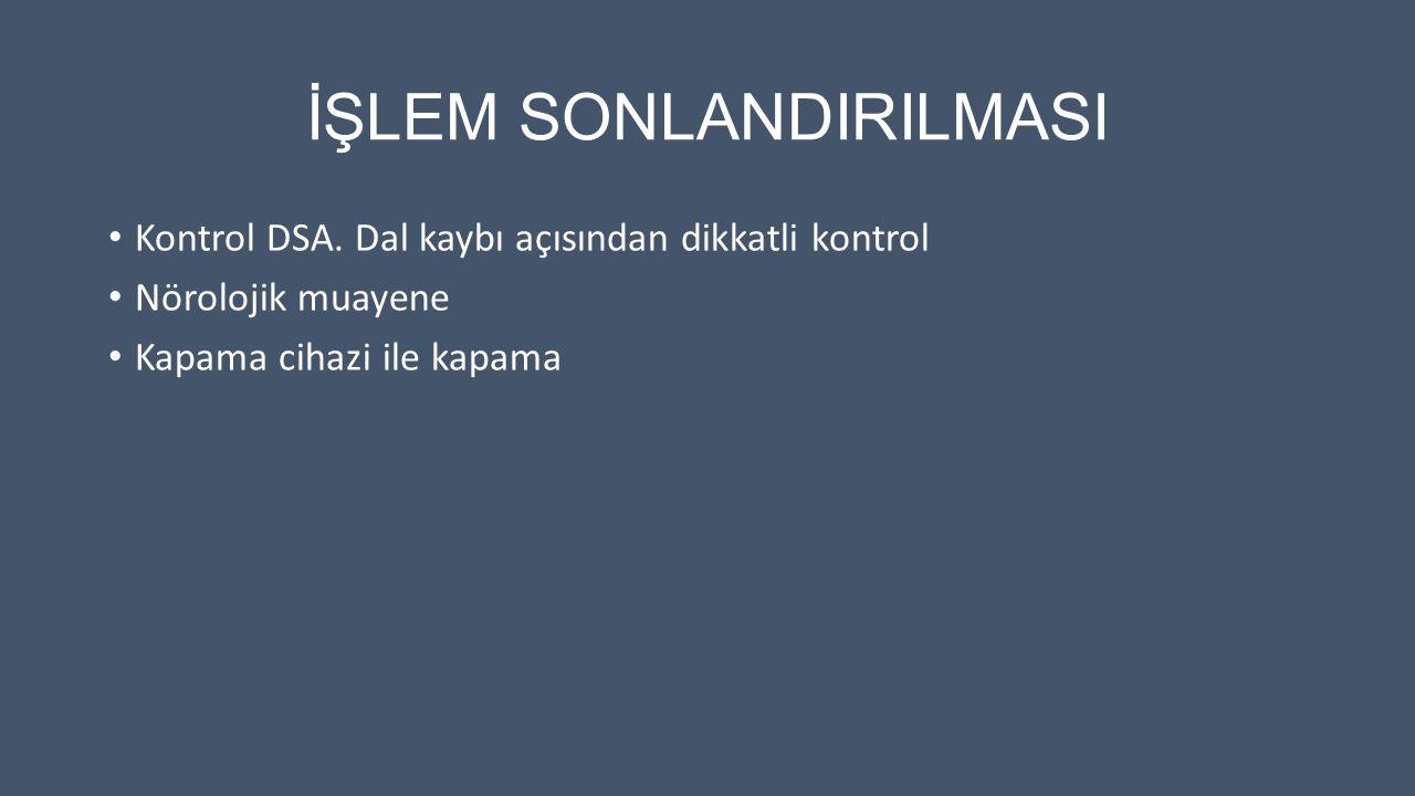 İŞLEM SONLANDIRILMASI