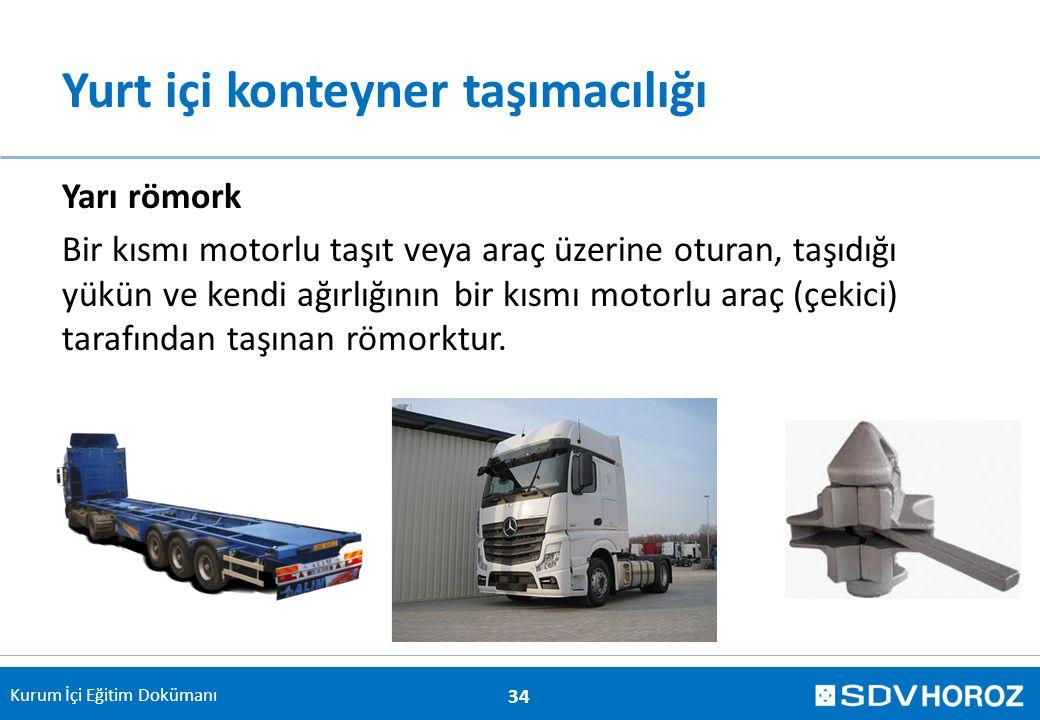 Yurt içi konteyner taşımacılığı