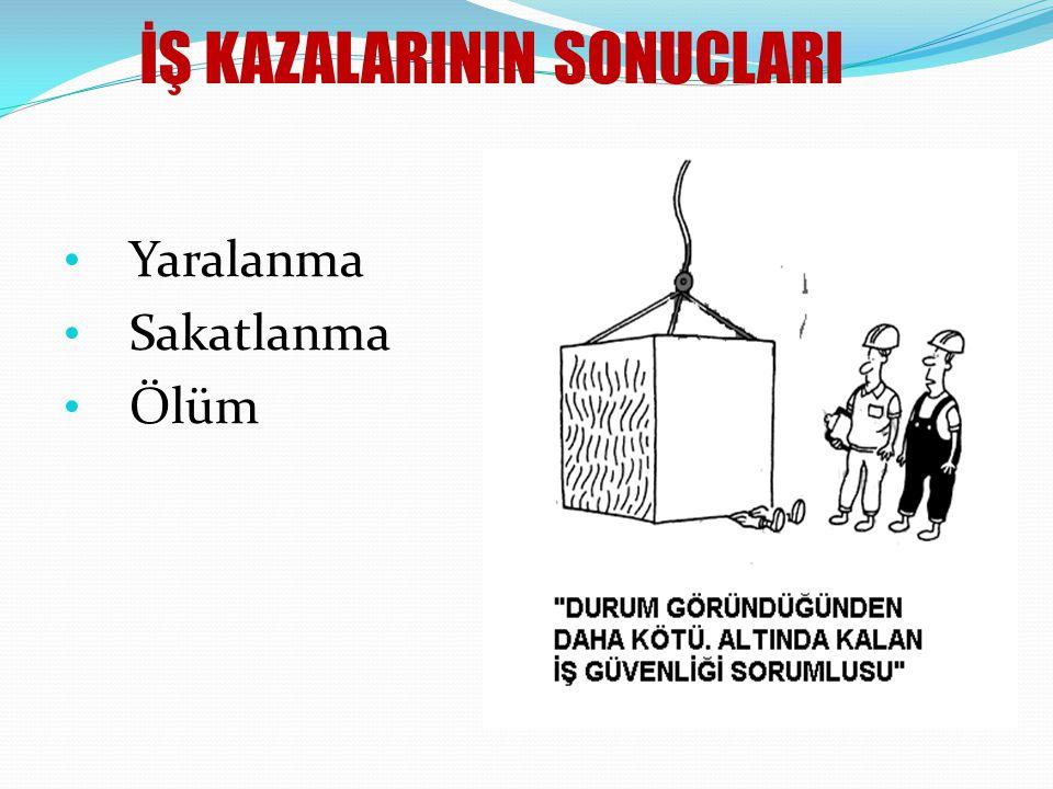 İŞ KAZALARININ SONUCLARI
