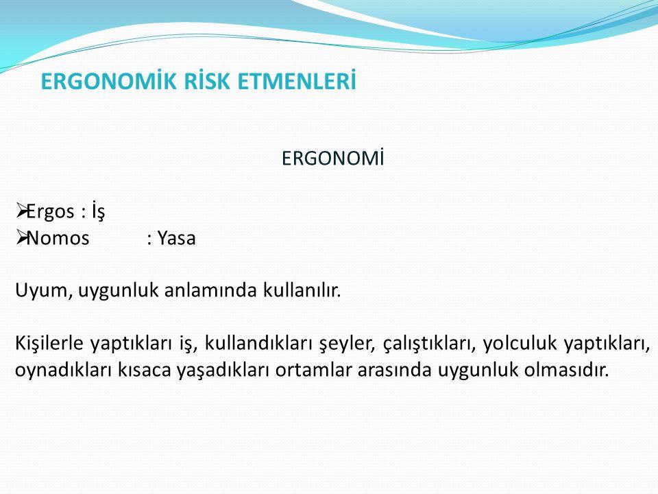 ERGONOMİK RİSK ETMENLERİ