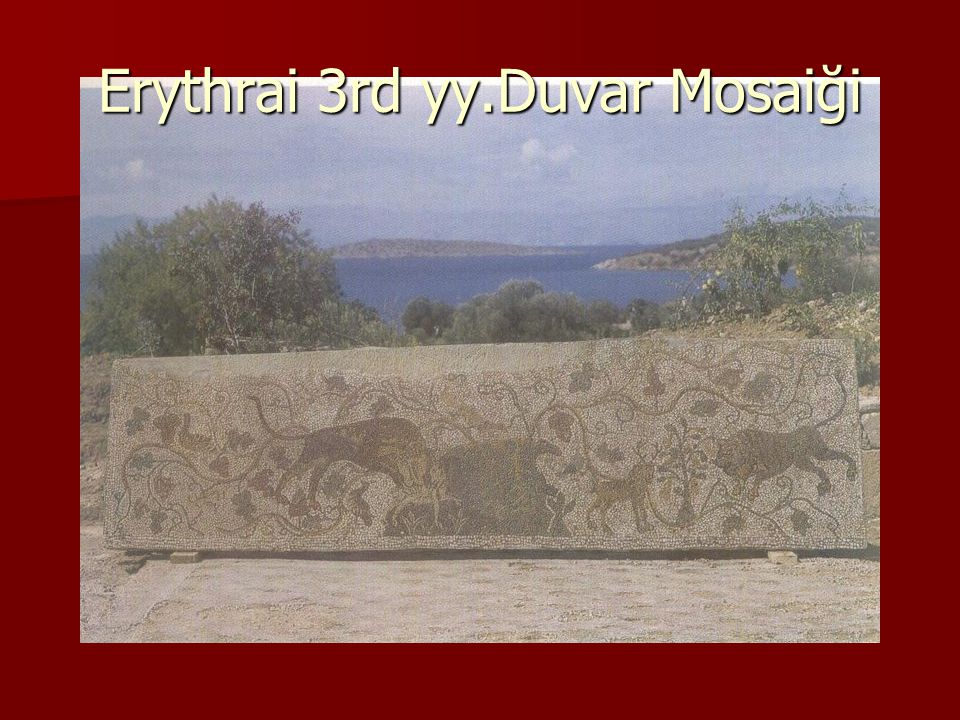 Erythrai 3rd yy.Duvar Mosaiği