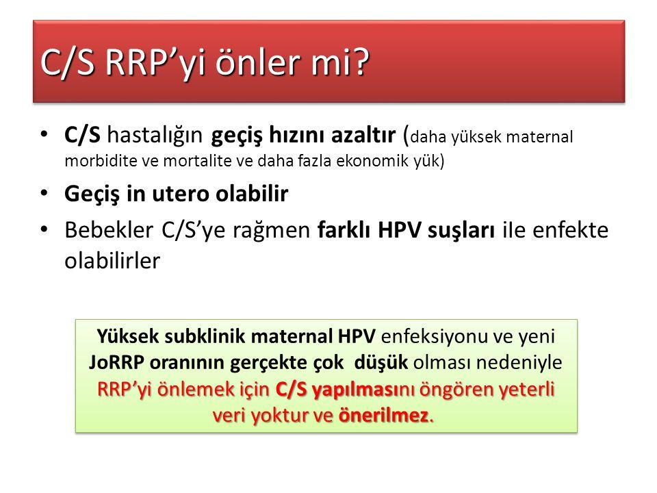 C/S RRP'yi önler mi C/S hastalığın geçiş hızını azaltır (daha yüksek maternal morbidite ve mortalite ve daha fazla ekonomik yük)