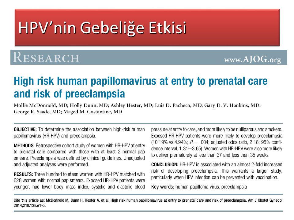 HPV'nin Gebeliğe Etkisi