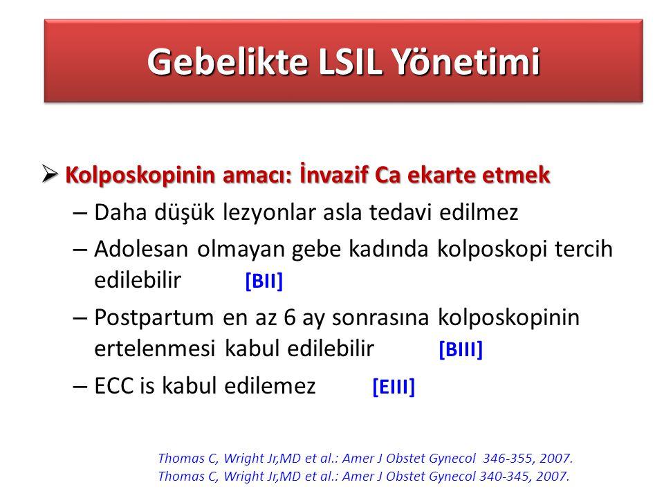 Gebelikte LSIL Yönetimi